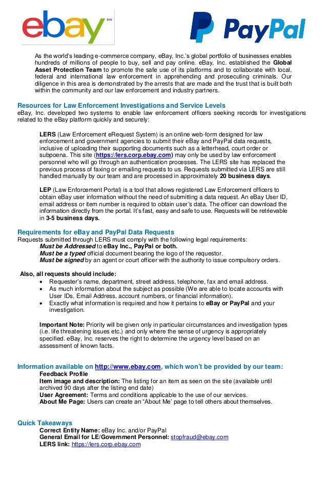 PayPal Law Enforcement Guide