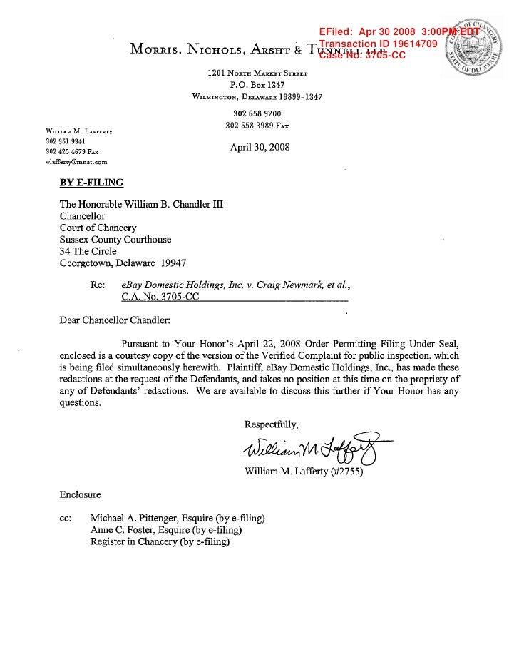 EFiled: Apr 30 2008 3:00PM EDT Transaction ID 19614709 Case No. 3705-CC