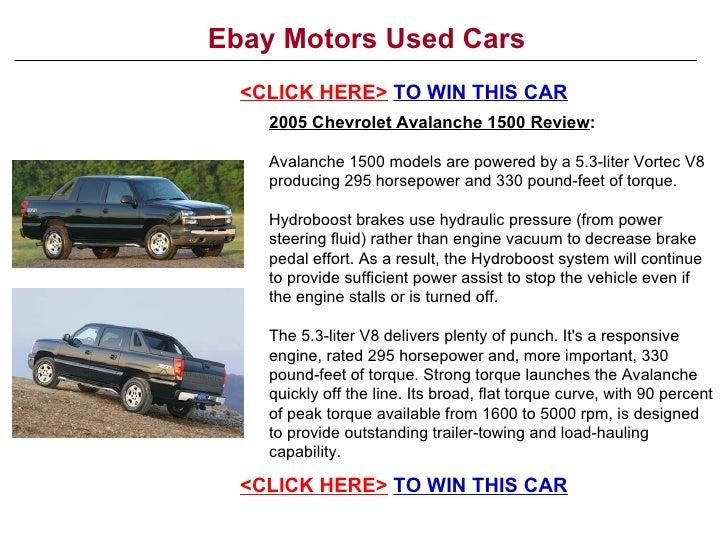 Ebay Motors Used Cars