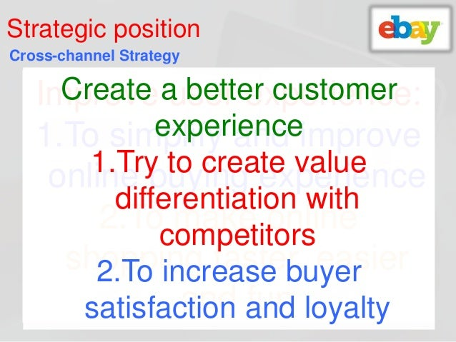 ebay a the customer marketplace case study The customer value delivery of online marketplace case study of taobao company bingcheng yan  case study of taobao company to examine the current situation by making  authors found some advantages of ebay through the analysis and summarized the extra value that taobao can be put into use, such as, the paypal payment system which supports.