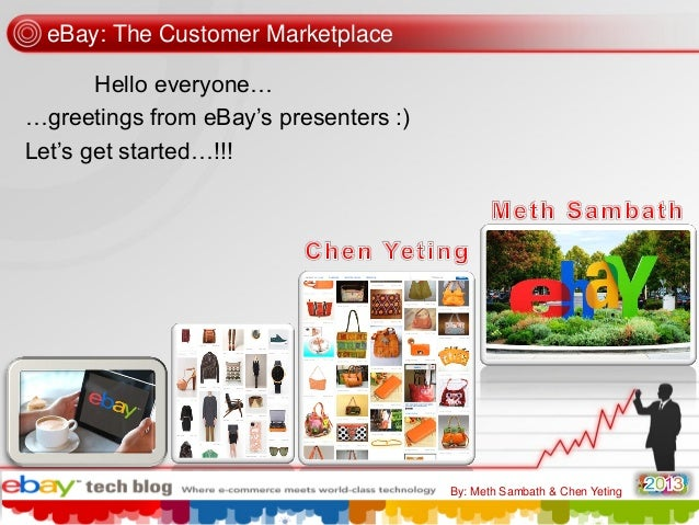 "eBay: The Customer Marketplace Hello everyone… …greetings from eBay""s presenters :) Let""s get started…!!!  By: Meth Sambat..."