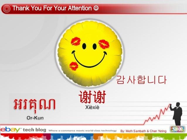 Thank You For Your Attention   감사합니다  谢谢 Xièxiè  By: Meth Sambath & Chen Yeting