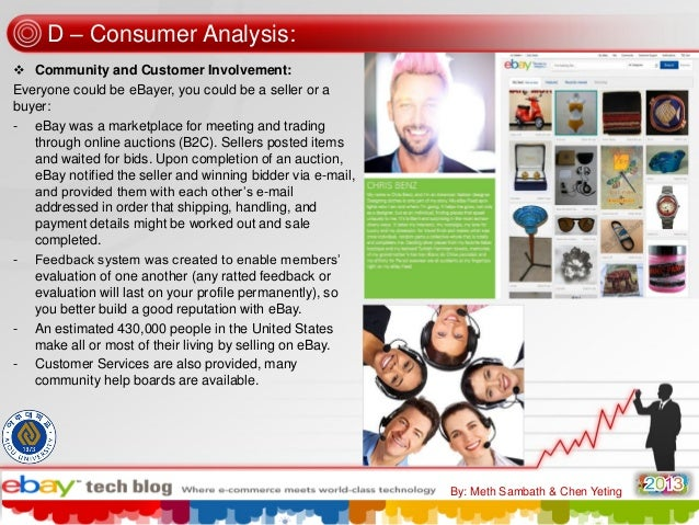 D – Consumer Analysis:  Community and Customer Involvement: Everyone could be eBayer, you could be a seller or a buyer: -...