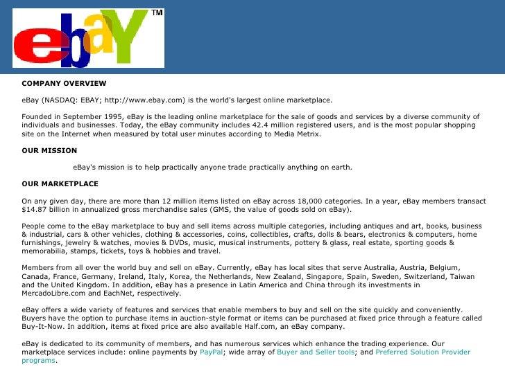 Ebay S Strategy