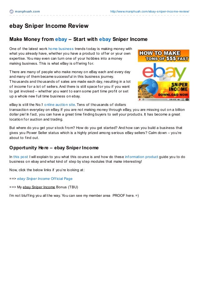 manphuah.com http://www.manphuah.com/ebay-sniper-income-review/ebay Sniper Income ReviewMake Money from ebay – Start with ...