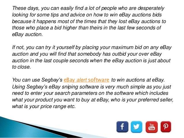 Ebay Sniper Software