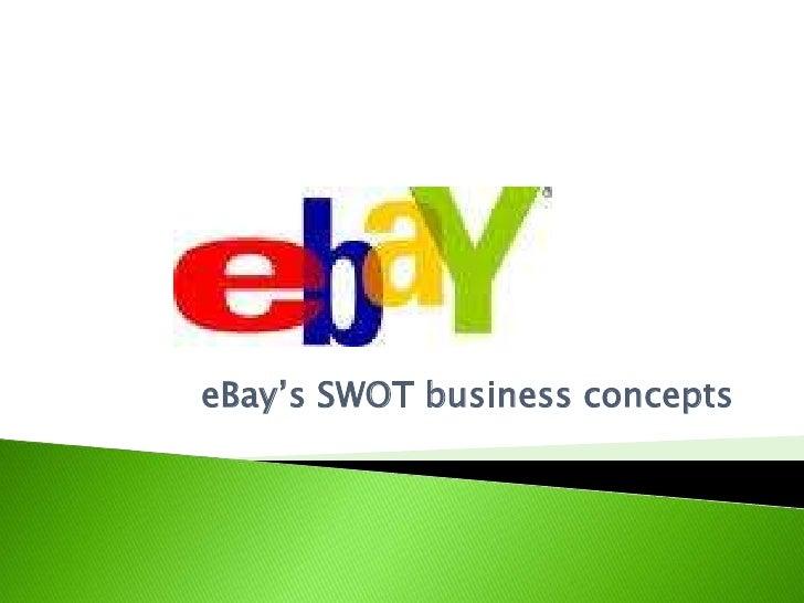 eBay's SWOT business concepts<br />