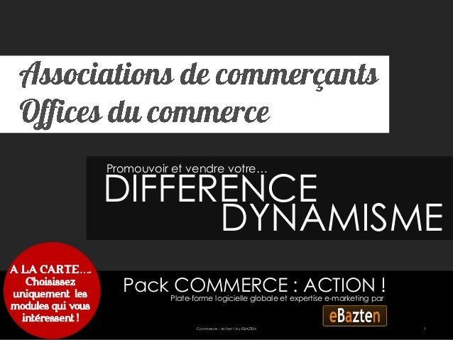 Promouvoir et vendre votre…                   DIFFERENCE                         DYNAMISMEA LA CARTE….   Choisissezuniquem...