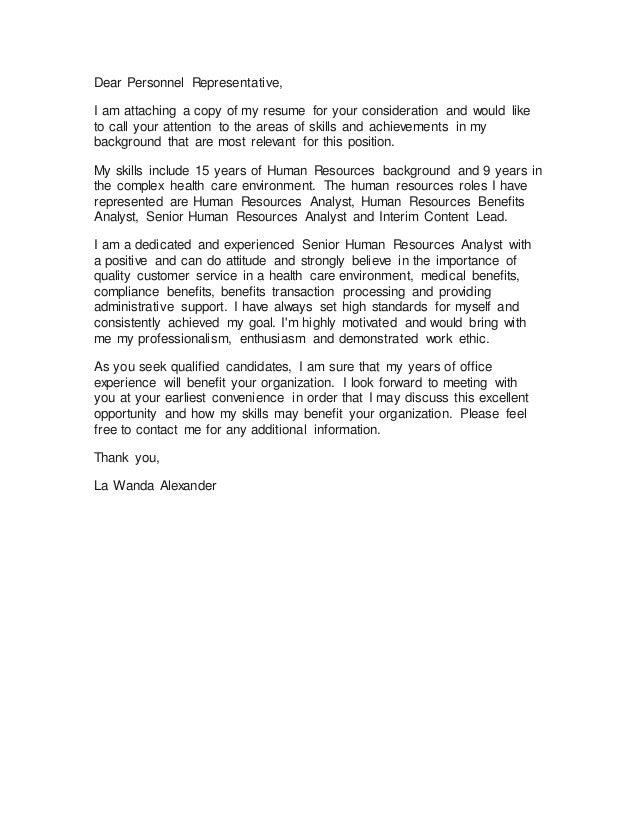 La Wanda Cover Letter