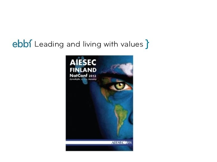 Leading and living with values