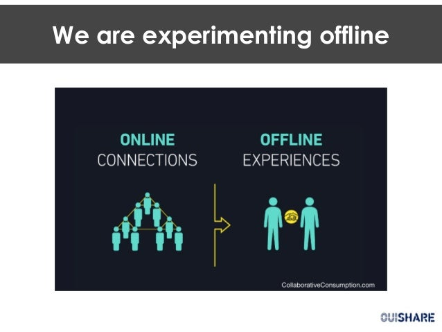 We are experimenting offline