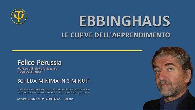 Ebbinghaus Curve di Apprendimento