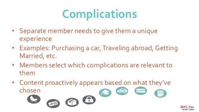 Complications • Separate member needs to give them a unique experience • Examples: Purchasing a car,Traveling abroad, Gett...