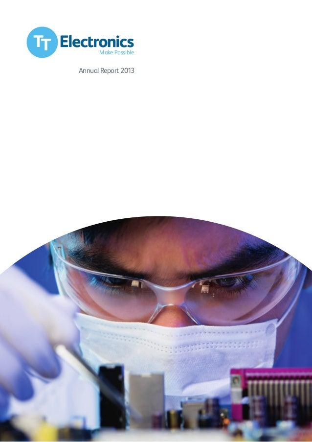 2013 TT Electronics Annual Report