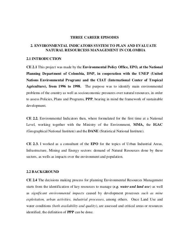 CAREER EPISODES E-2