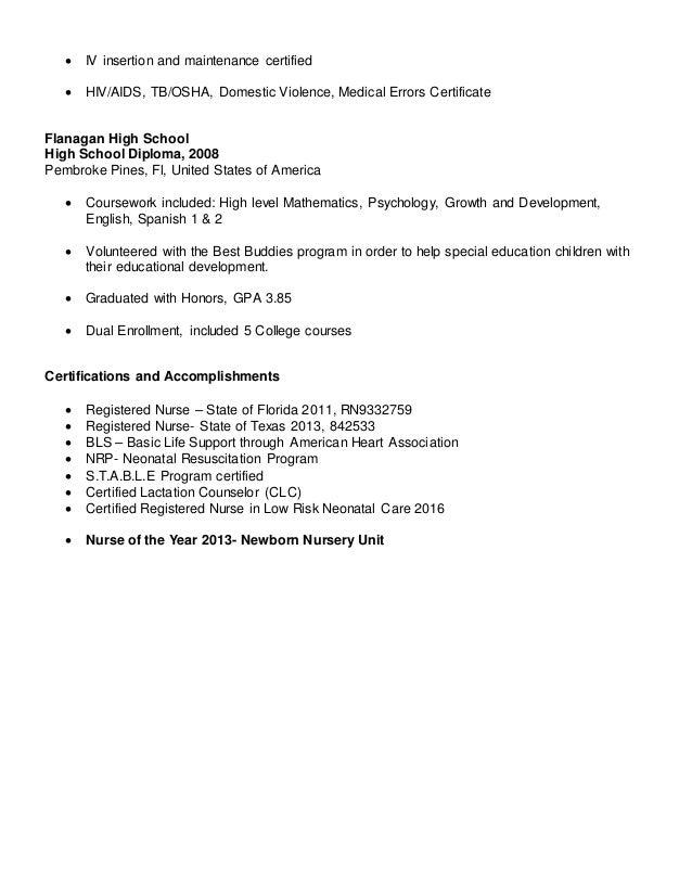 Neonatal Nurse Resume. sample resume rn resume cv cover letter ...