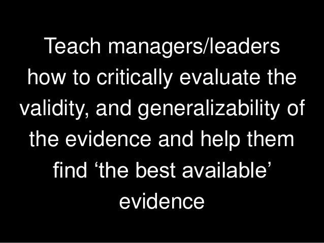 Evidence based practice: Where does it come from?