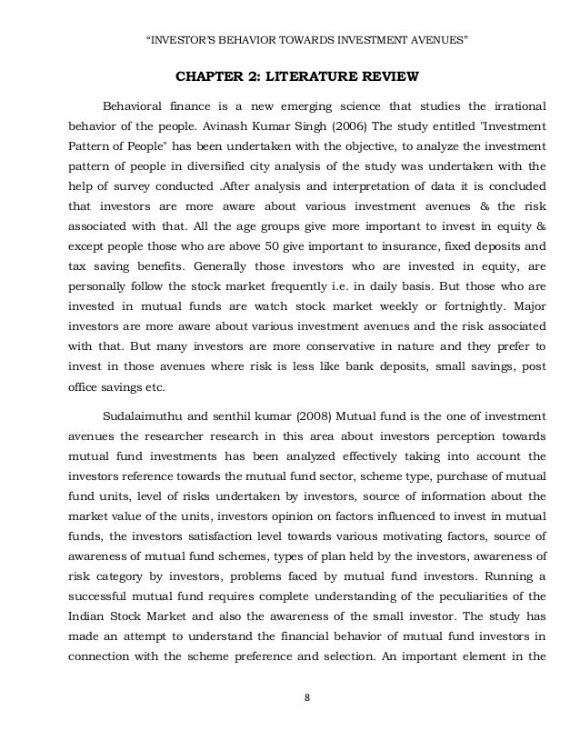 literature review on consumer perception towards mutual funds Investor's perception towards mutual funds project report investor's perception towards mutual funds explore chapter-2 review of literature 12-30.