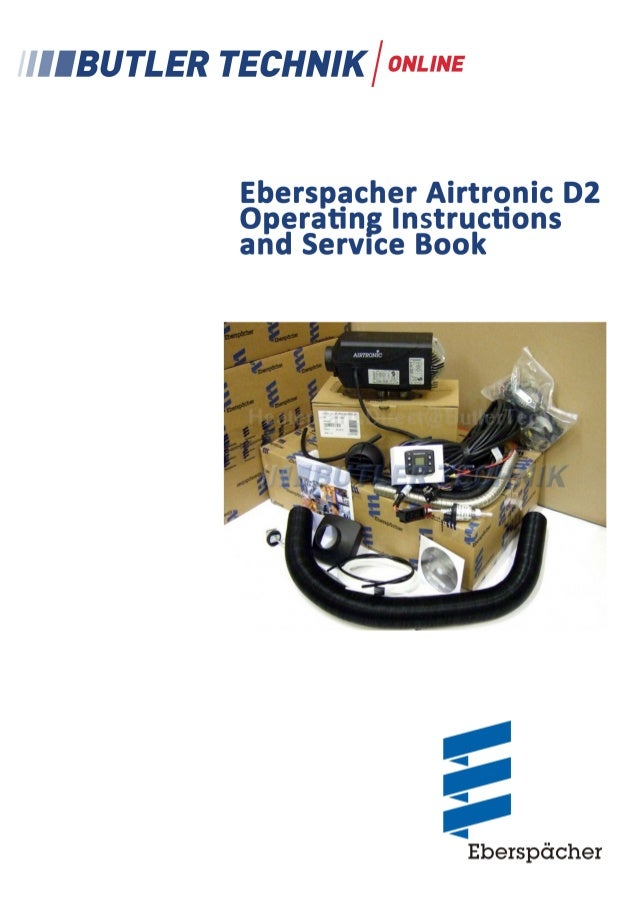eberspacher airtronic d2 instructions rh slideshare net airtronic d2 repair manual espar airtronic d2 service manual