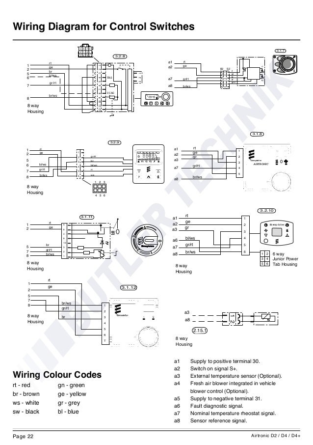 eberspacher airtronic d2 instructions rh slideshare net espar d2 heater wiring diagram Espar D2 Installation