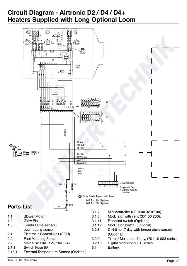eberspacher airtronic d2 instructions rh slideshare net Espar D2 Installation eberspacher airtronic d2 wiring diagram