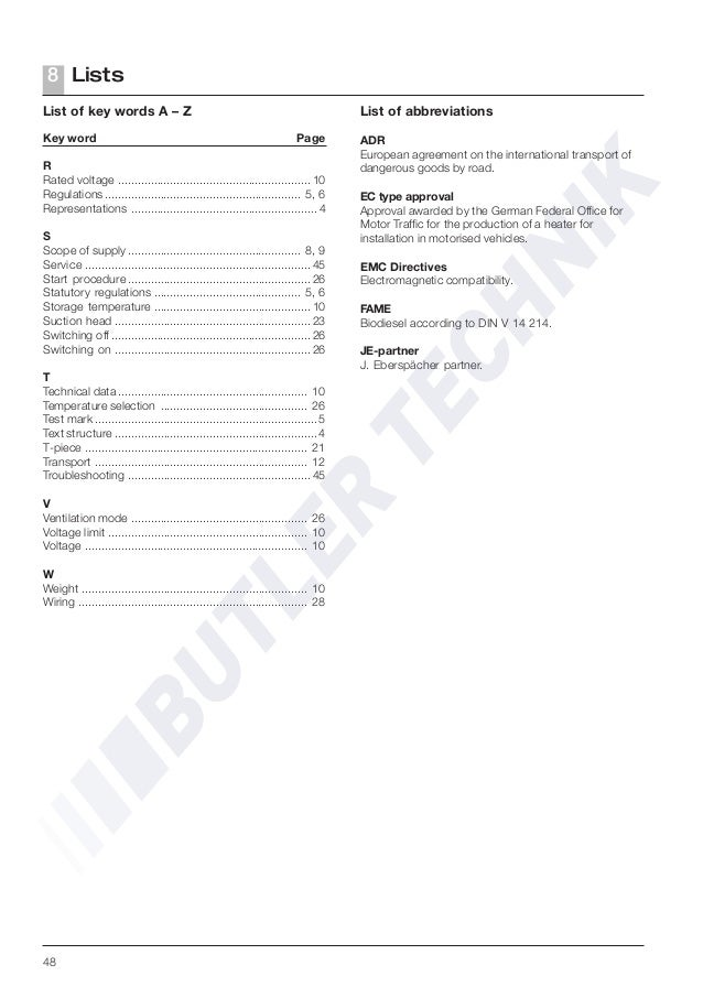 Webasto Thermo 50 Installation Manual
