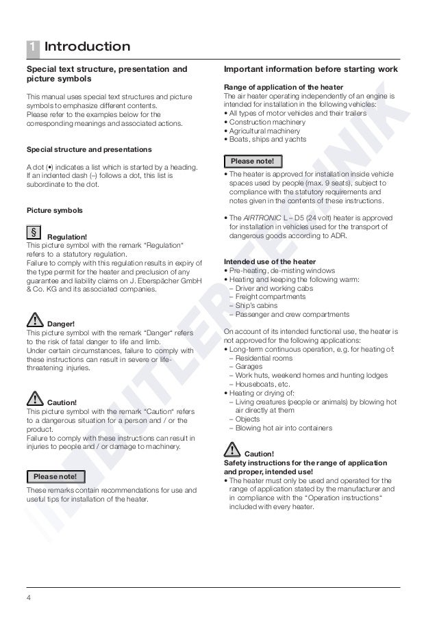 Espar D5 Manual Ebook