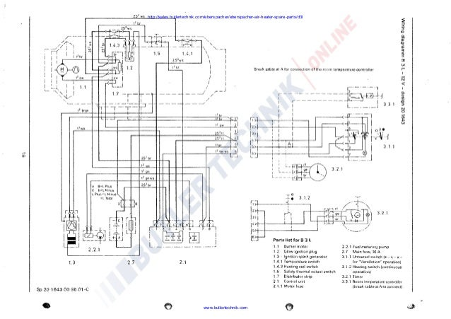 Eberspacher Wiring Diagram - Wiring Diagram