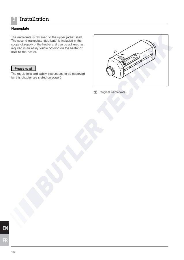 Eberspacher D5LC Air Heater Manual
