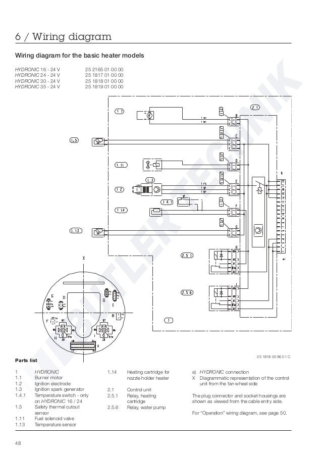 eberspacher hydronic 30 workshop manual 49 638 eberspacher d5w wiring diagram diagram wiring diagrams for diy Basic Electrical Wiring Diagrams at gsmportal.co