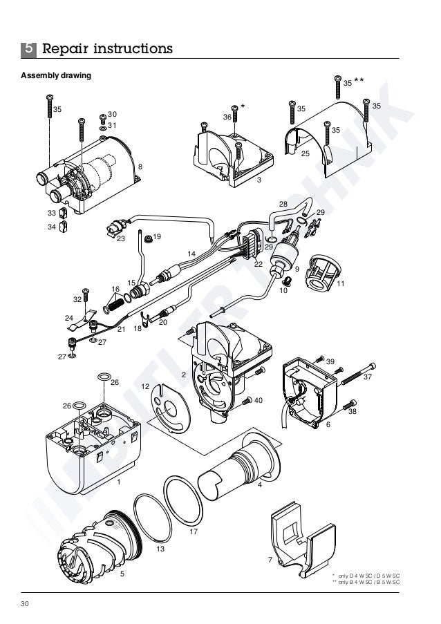 Eberspacher Hydronic B4WSC Workshop Manual