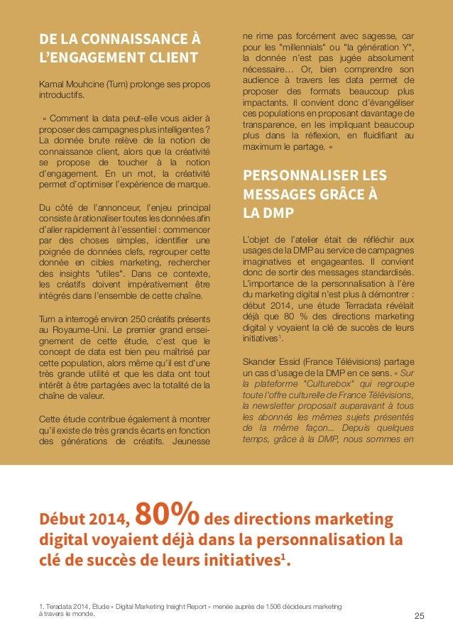 mesure de proposer une personnalisation. Une analyse du parcours sur Culturebox et sur les autres sites du groupe France T...