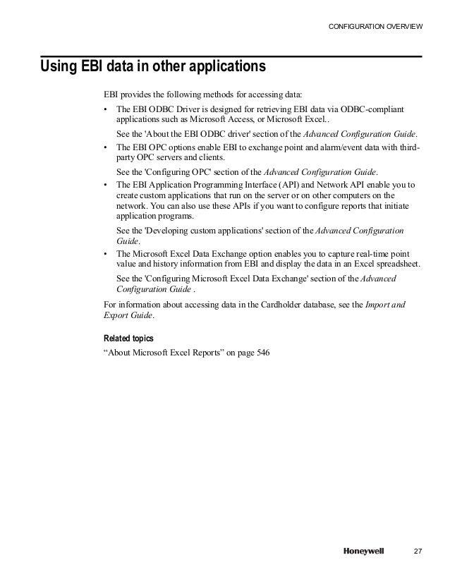 ebi config rh slideshare net Ebi Security Honeywell EBI Architecture
