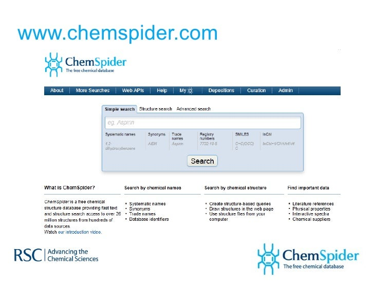 ChemSpider – An Online Database and  Registration System Linking the Web Slide 2