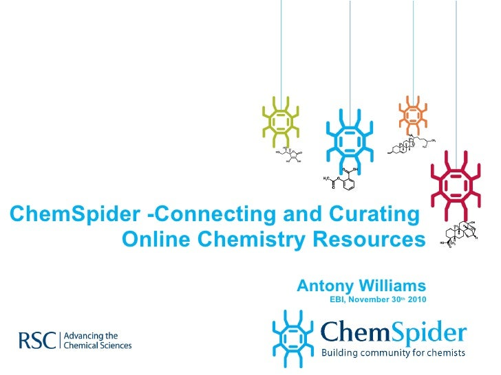 ChemSpider -Connecting and Curating  Online Chemistry Resources Antony Williams EBI, November 30 th  2010