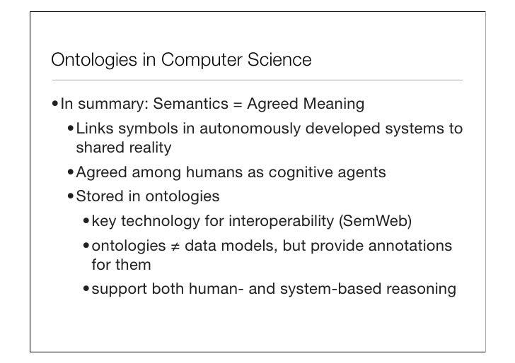 Business Semantics As An Interface Between Enterprise Information Man