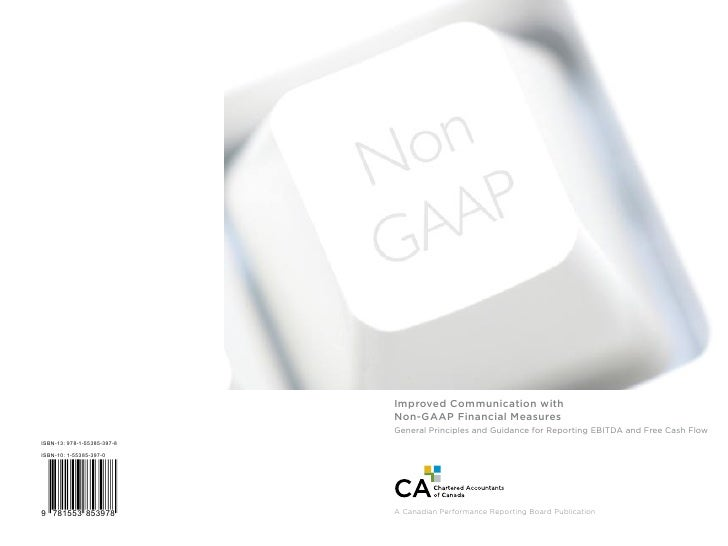 Improved Communication with                                        Non-GAAP Financial Measures                            ...