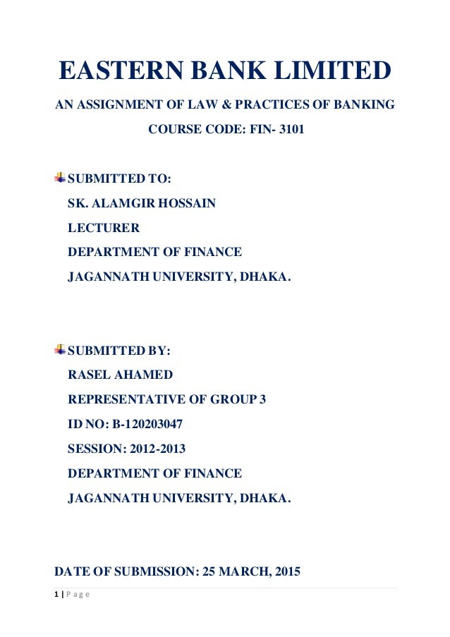 banking law assignment