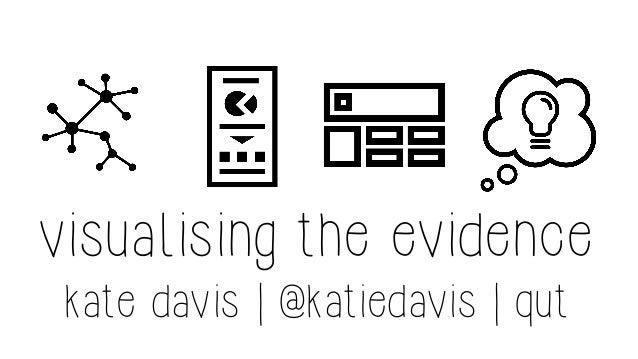 visualising the evidence kate davis | @katiedavis | qut