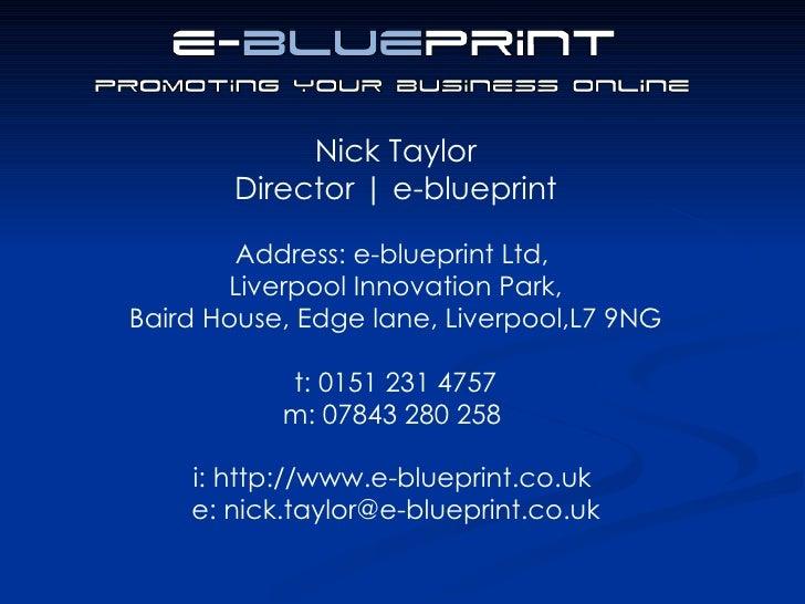 Search engine optimisation e blueprint 17 malvernweather Gallery