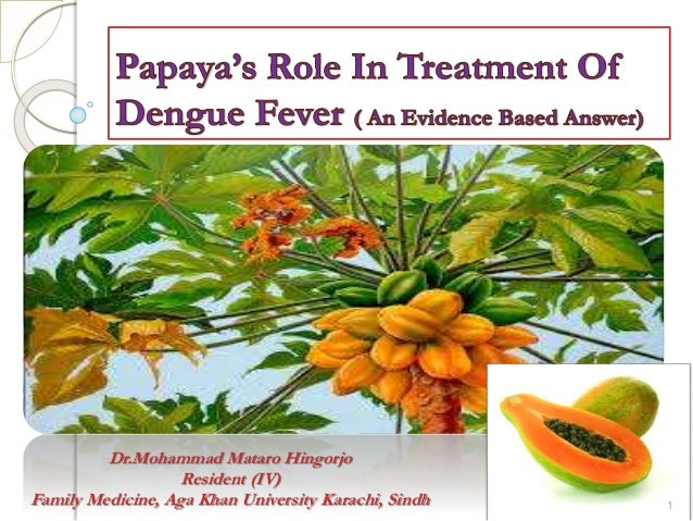 Role of Papaya in Dengue fever, an evidence based Answere