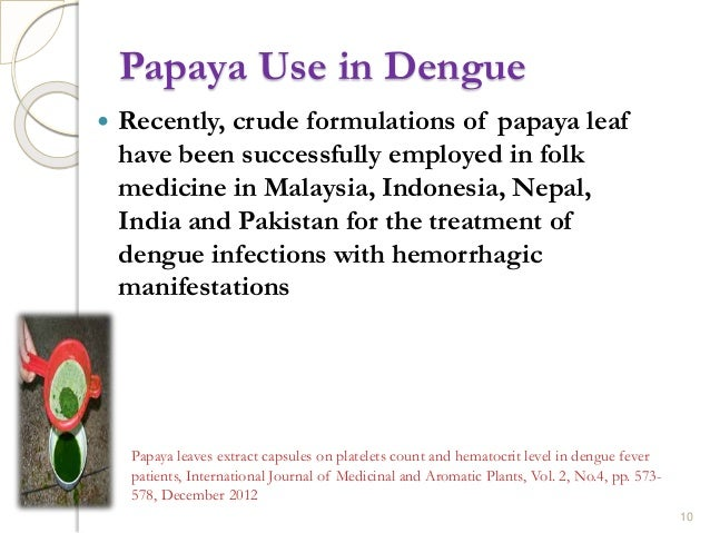 how to make papaya leaf extract for dengue
