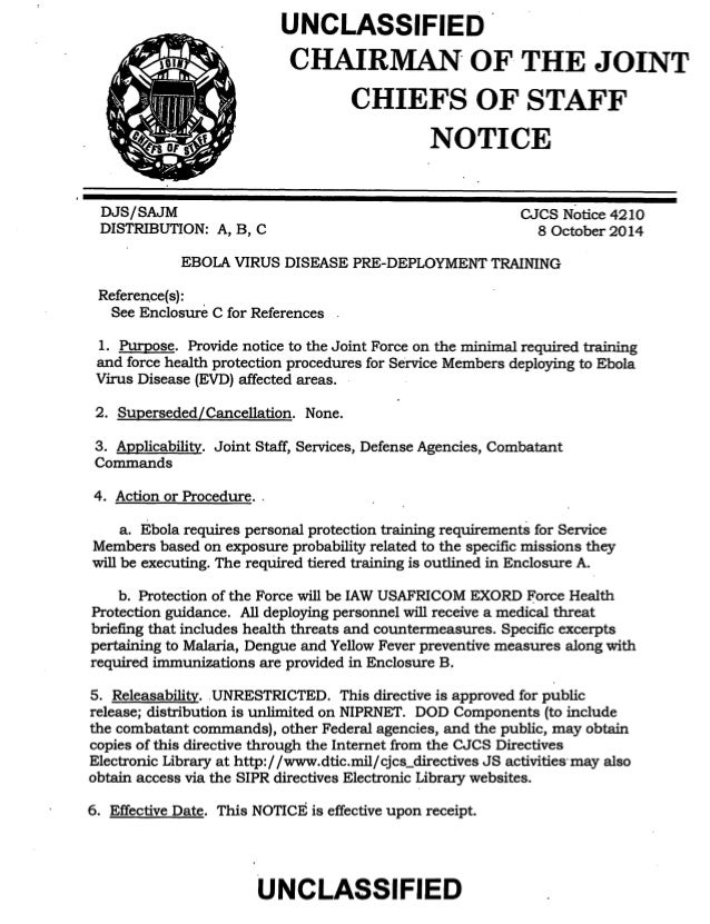 UNCLASSIFIED .  CHAIRMAN· OF· THE JOINT  CHIEFS OF STAFF  NOTICE  DJ-8/SAJM  DISTRIBUTION: A, B, C  CJCS Notice 4210  8 Oc...