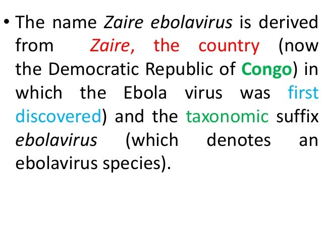 an introduction to the ebola virus Ebola virus disease – outbreak in west africa including sierra leone, guinea  and liberia introduction ebola virus disease is a viral haemorrhagic fever (vhf.