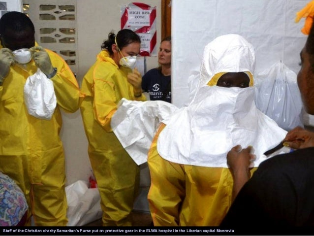 Doctors in protective gear work inside the Medecins Sans Frontieres isolation ward as Guinea faced the worst ever outbreak...