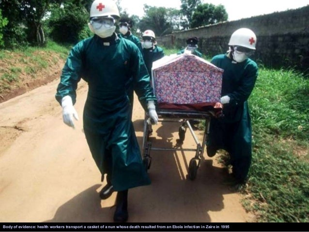 The Liberian daughter of a woman that died of Ebola is in tears as her mother is taken for burial from the isolation unit ...