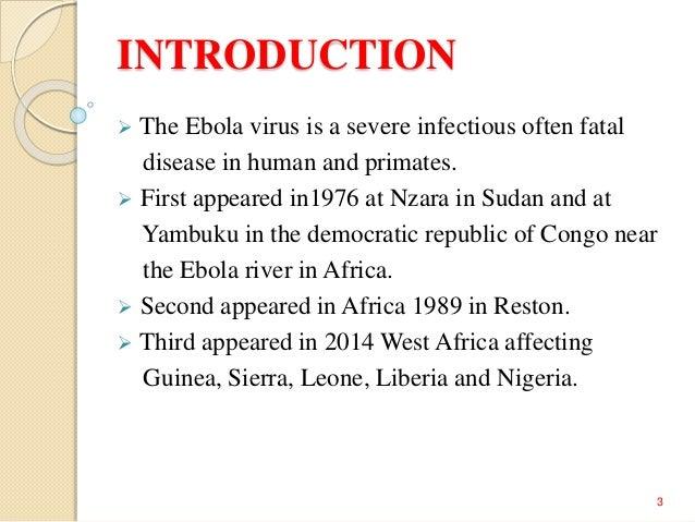 causes of ebola virus