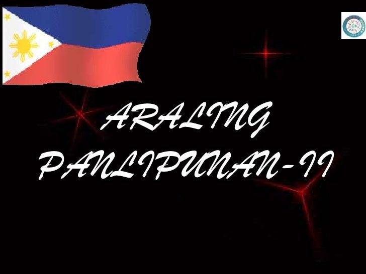ARALING PANLIPUNAN-II<br />