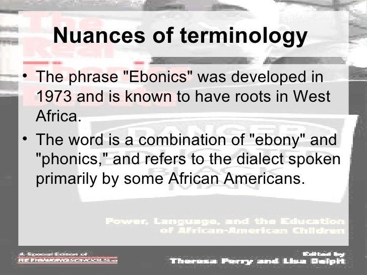 Ebonics (word)