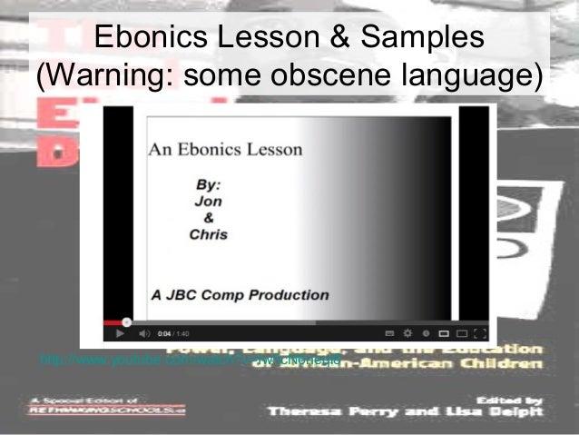 Ebonics lesson